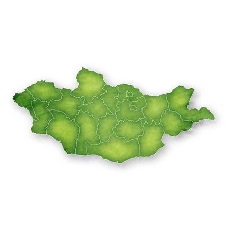 Mongolia Map Frame Icon Illustration