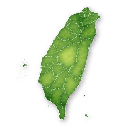 Taiwan Map Frame Icon Иллюстрация