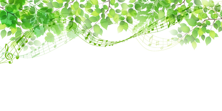 New green leaf green background