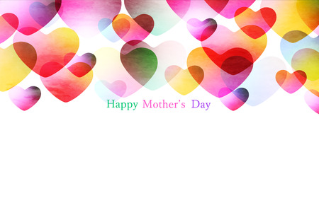 Mother's day colorful heart background Ilustração