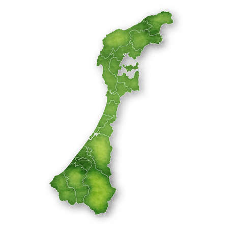 Ishikawa Map green icon 일러스트