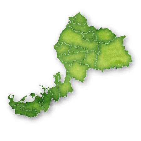 Fukui Map green icon 일러스트