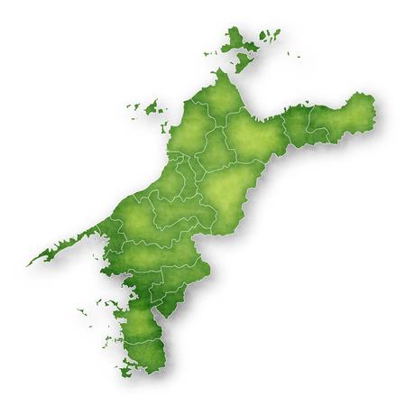 Ehime Map green icon 일러스트
