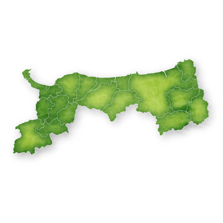 Tottori Map green icon 일러스트
