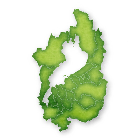 Shiga Map green icon 일러스트