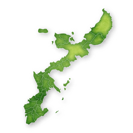 Okinawa Map green icon