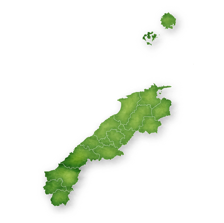 Shimane Map green icon