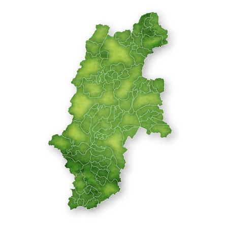 Nagano Map green icon 일러스트