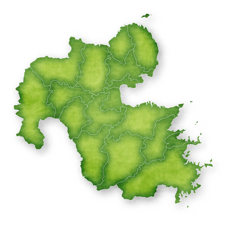 Oita Map green icon