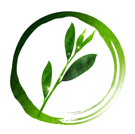 Tea new tea circle icon 向量圖像