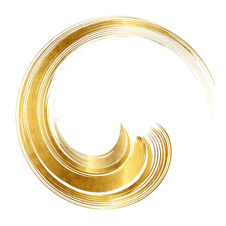 Swirl circle gold icon Иллюстрация