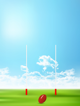 Rugby pole sports background 写真素材 - 120883760