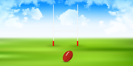 Rugby pole sports background 写真素材 - 120883762