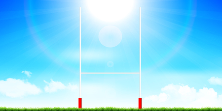 Rugby pole sports background