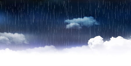 Rainy season clouds landscape background
