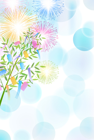 Tanabata polka dot summer background Illusztráció