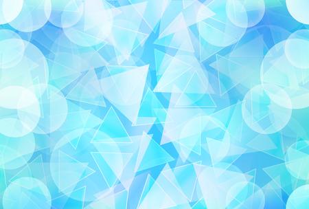 Ice geometry summer background