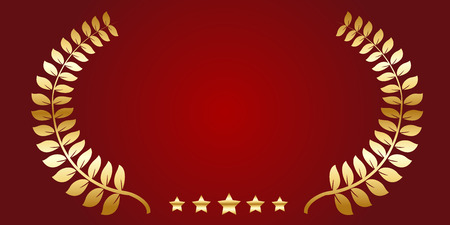 Gold laurel star icon Banque d'images - 122210251