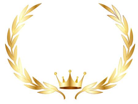 Crown laurel silhouette icon Banque d'images - 122210253