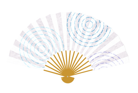 Summer greeting card swirl Japanese paper icon
