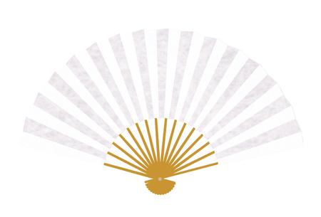 Folding fan paper summer icon Çizim