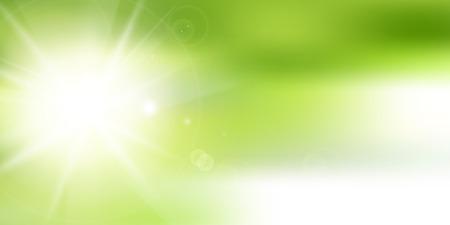 Fresh green sun green background 向量圖像