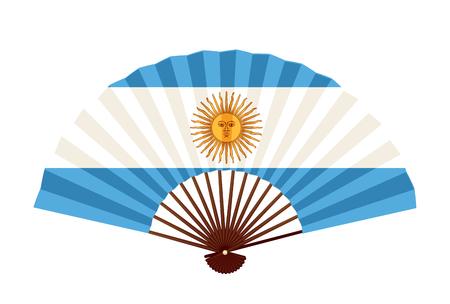 Icône de symbole de drapeau national de l'Argentine Vecteurs