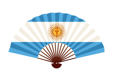 Ikona symbol flagi narodowej Argentyny Ilustracje wektorowe