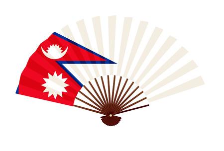 Ikona symbol flagi narodowej Nepalu