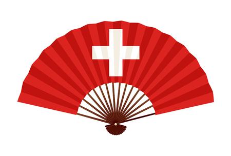 Ikona symbol flagi narodowej Szwajcarii