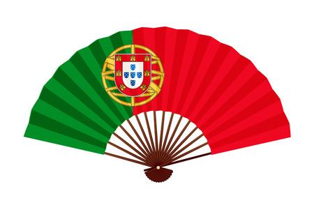 Icono de símbolo de la bandera nacional de Portugal Ilustración de vector