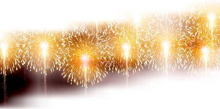 Fireworks summer sky background Imagens - 124546424