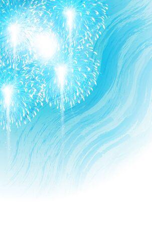 Fireworks summer summer greeting card background Imagens - 124546443