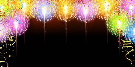 Fireworks summer sky background Imagens - 124546455