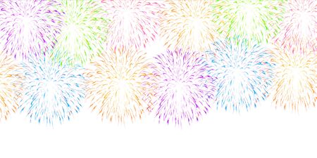 Fireworks summer sky background Imagens - 124546552