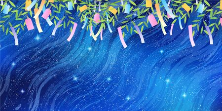 Tanabata Milky Way Ornament Background Vettoriali
