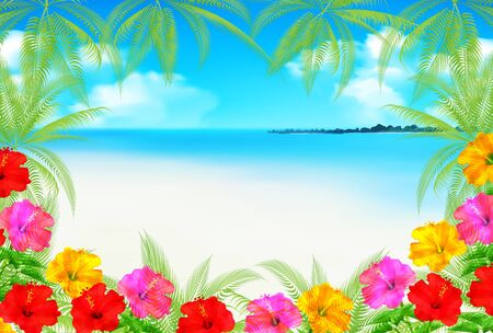 Sea summer water background Illustration
