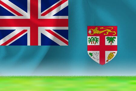 Fiji Flag Grand Background