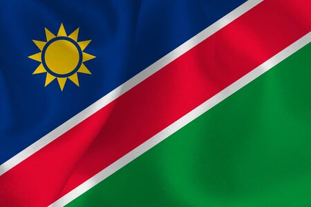 Namibia flag silk background