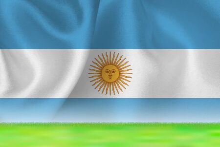 Argentina flag grand background  イラスト・ベクター素材