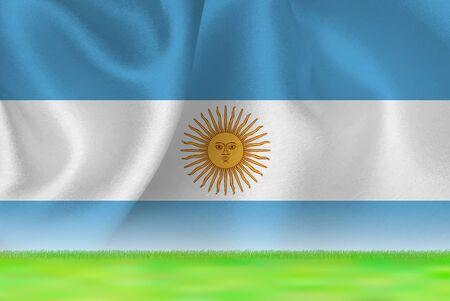 Argentina flag grand background Ilustrace