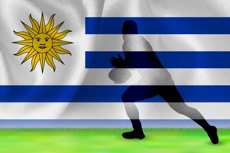 Uruguay Flag Rugby Background