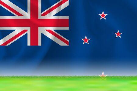 New zealand flag grand background
