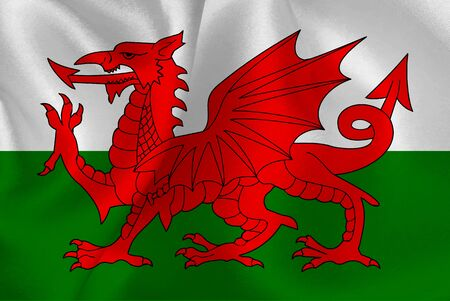 Wales flag grand background