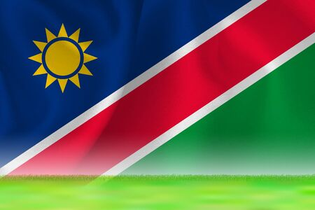 Namibia flag grand background