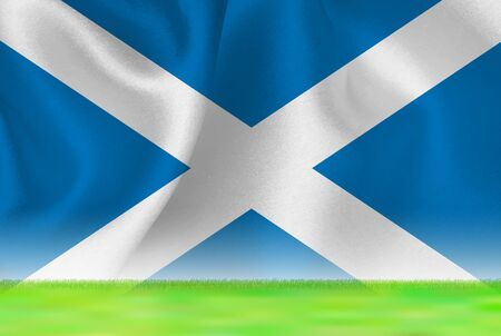 Scotland flag grand background
