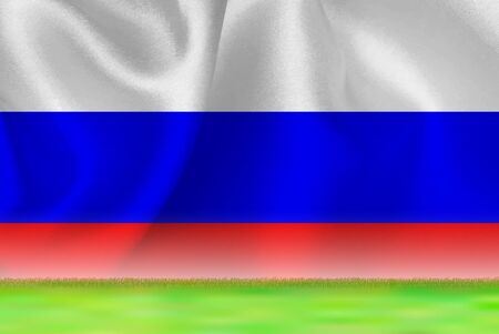 Russia flag grand background