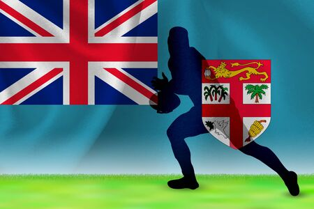 Fiji Flag Rugby Background