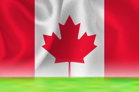 Canada flag ground background