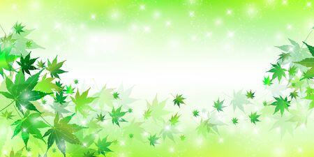 Świeże zielone liście klonu w tle Ilustracje wektorowe